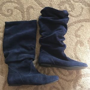 Steve Madden Slouch Tianna Boots Blu Suede
